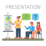 cartoon people - man doing presentation