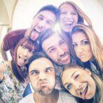 group of millennials